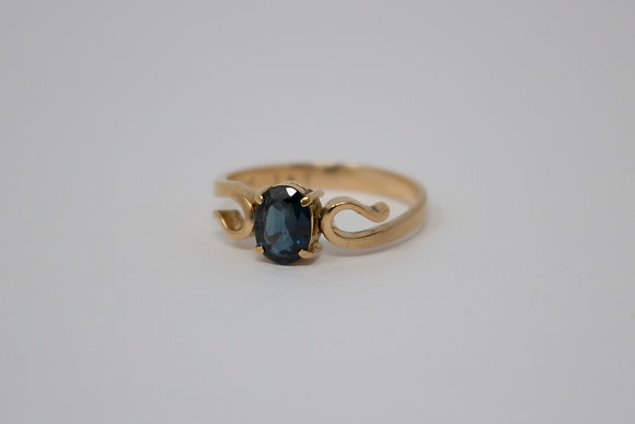 14k Gold Natural Sapphire Ring