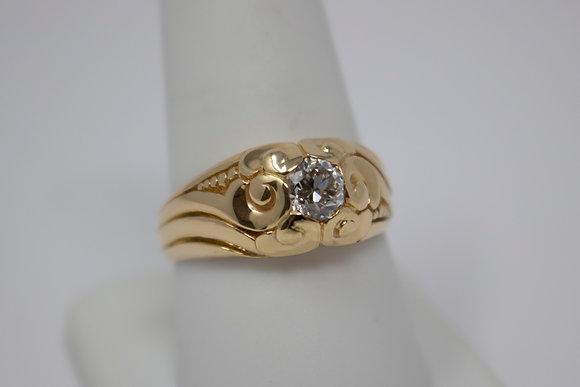 14k Gold Old European Diamond Ring