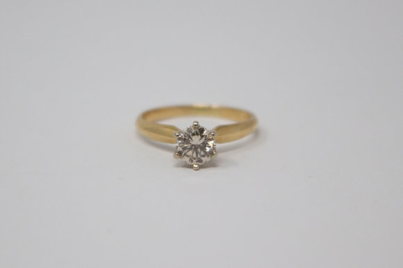 14k Gold Solitaire Diamond Engagement Ring