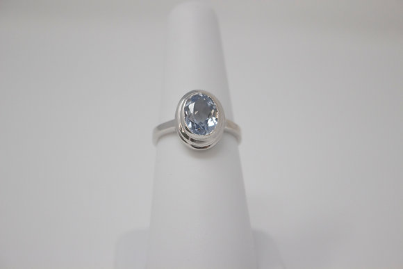 14k White Gold Synthetic Spinel Ring