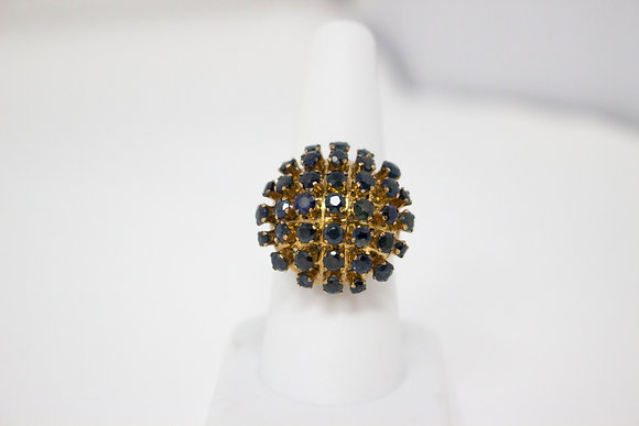 9k Gold Natural Blue Sapphire Ring