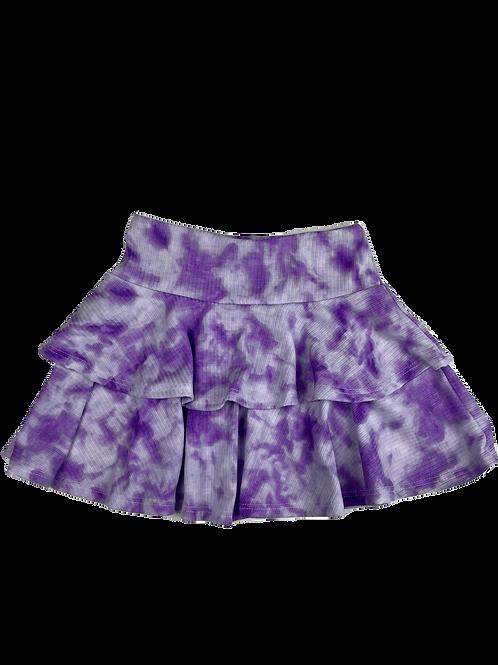 Lilac/White Tie Dye Skirt