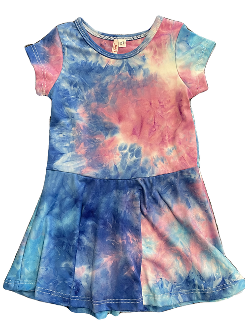 S/S BLUE/PURPLE TIE DYE DRESS