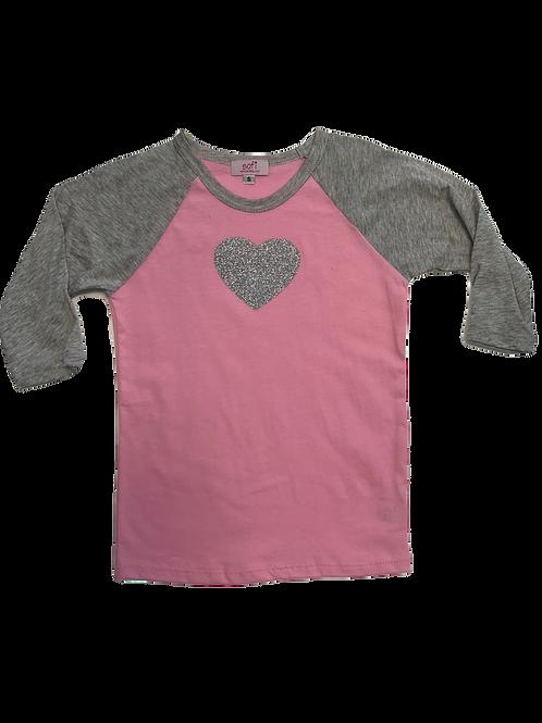 Pink/Grey Raglan