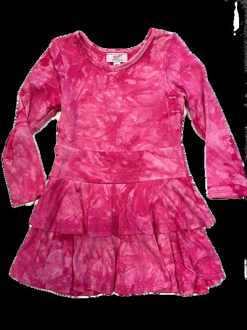 Fuchsia Tie Dye Dress