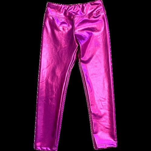 Hot Pink Foil Leggings