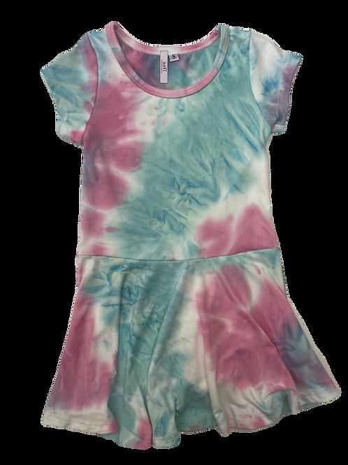 Pink/Blue S/S Tie Dye Dress