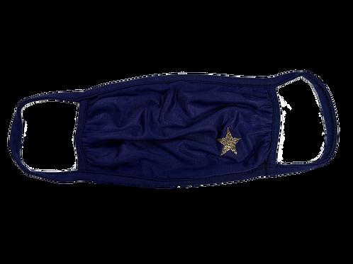 Navy Mask w/ Gold Star