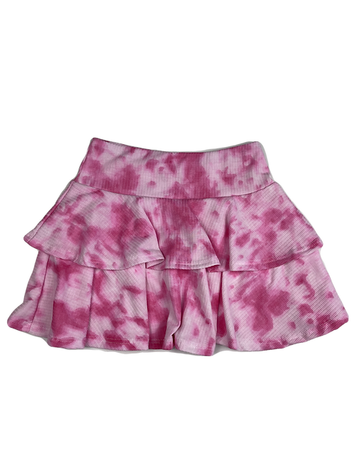 Pink/White Tie Dye Skirt