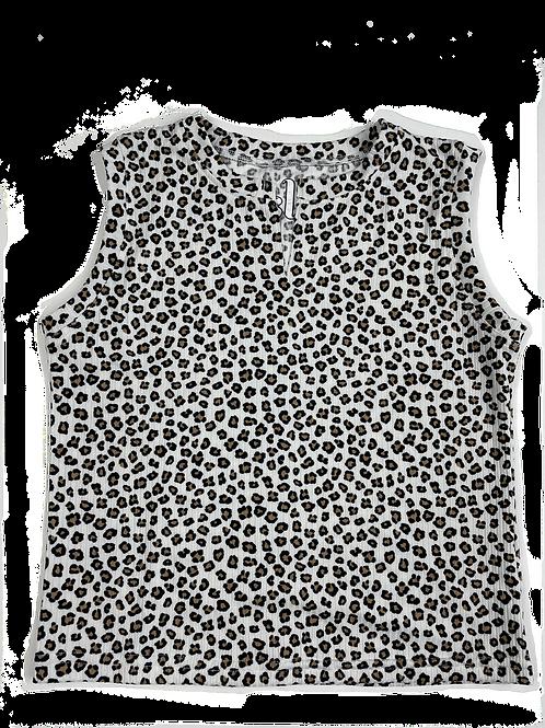 Leopard Slit Neck Tank