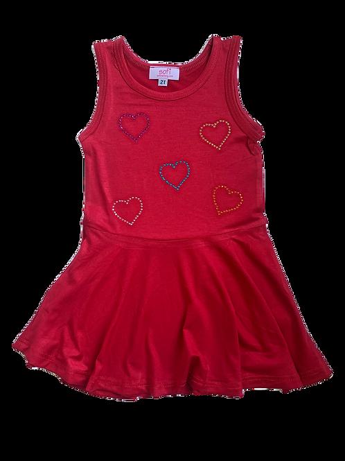 Red Tank Dress W/ Hearts