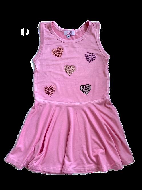 Pink Tank Dress wit hearts