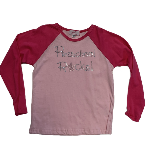 Preschool Rocks Raglan Shirt