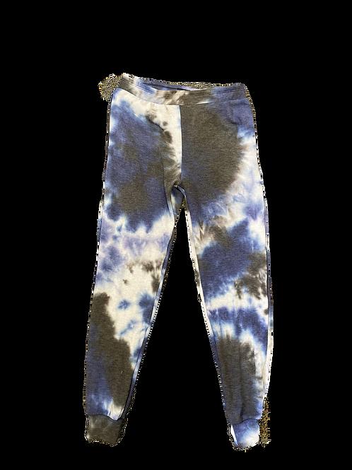 Royal/Black Tie Dye Sweatpants