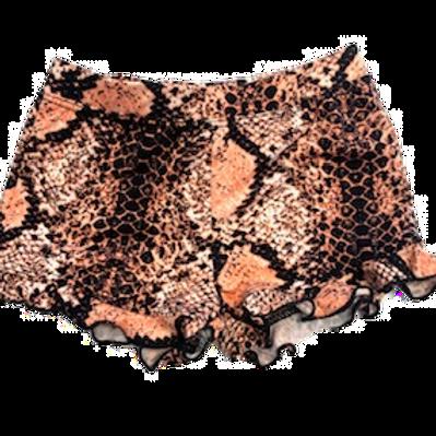 Coral Snake Ruffle Shorts