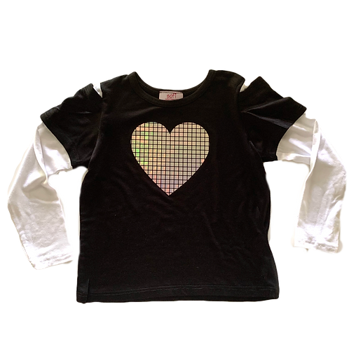 Black /White Heart Tee