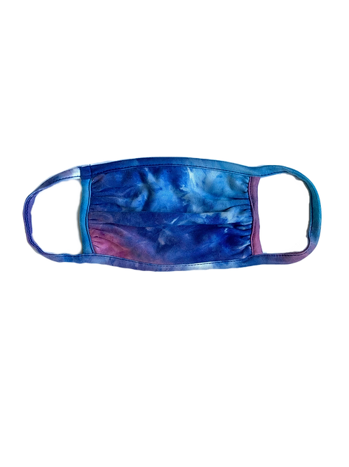 Blue/Purple Tie Dye Mask