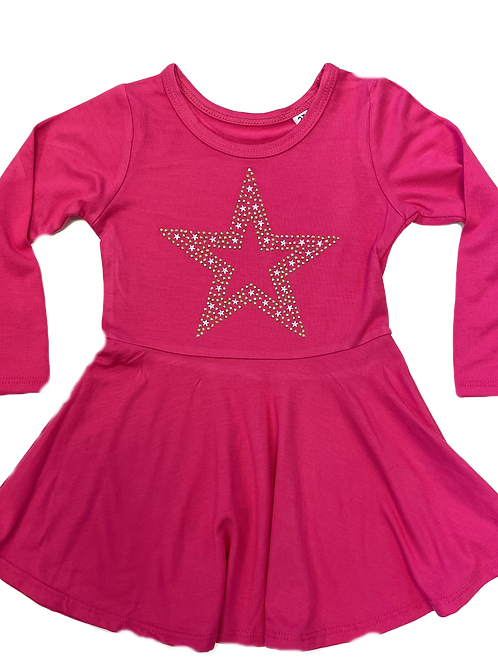 Fuchsia Star Dress