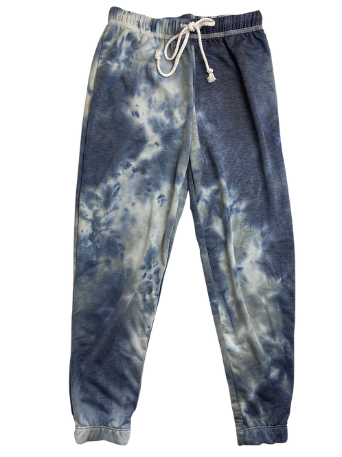 Indigo/Grey Tie Dye Sweatpants