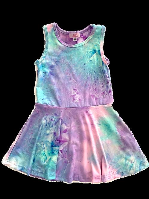Pastel Tie Dye Tank Dress