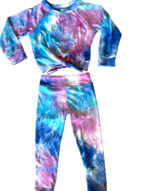 Blue/ Purple Tie Dye Set