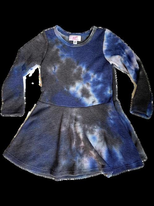 Navy/Black Tie Dye Dress