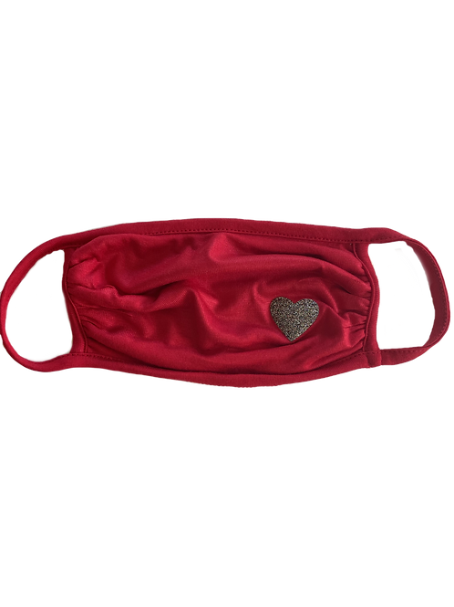 Red/Silver Heart Mask