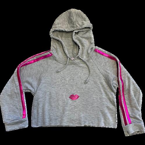 Girl Power HoodedCrop Sweatshirt