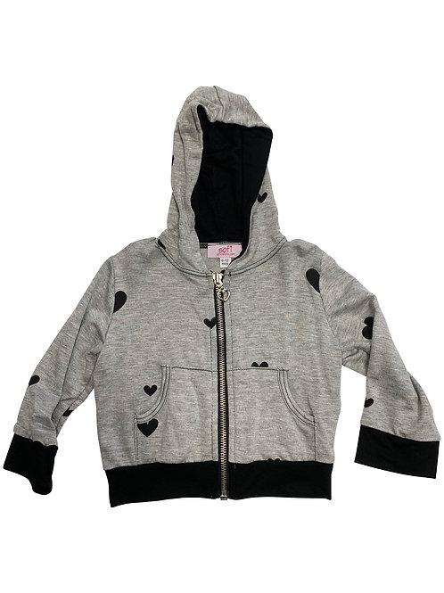 Gray/Black Zip Hoodie