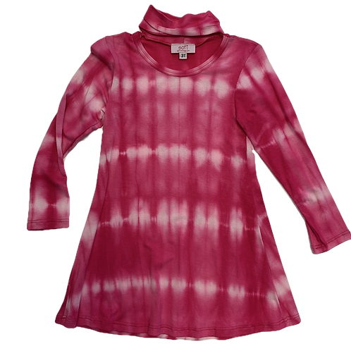 Tie Dye Dress with Collar Band