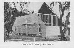 Building on a baptismal in 1984.