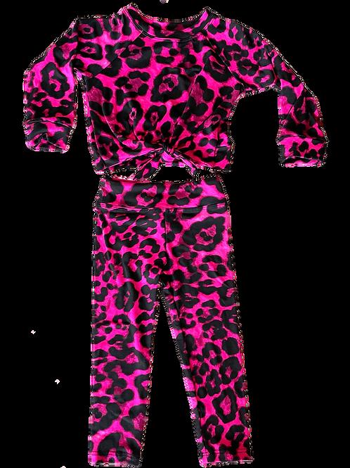 Fuchsia Cheetah Set