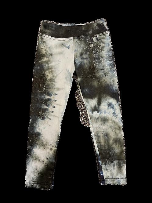 Blk/Wht Tie Dye Legging
