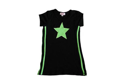 Black/Neon Green Star Dress