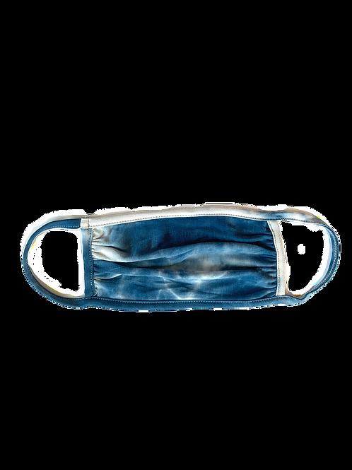Blue/White Tie Dye Mask