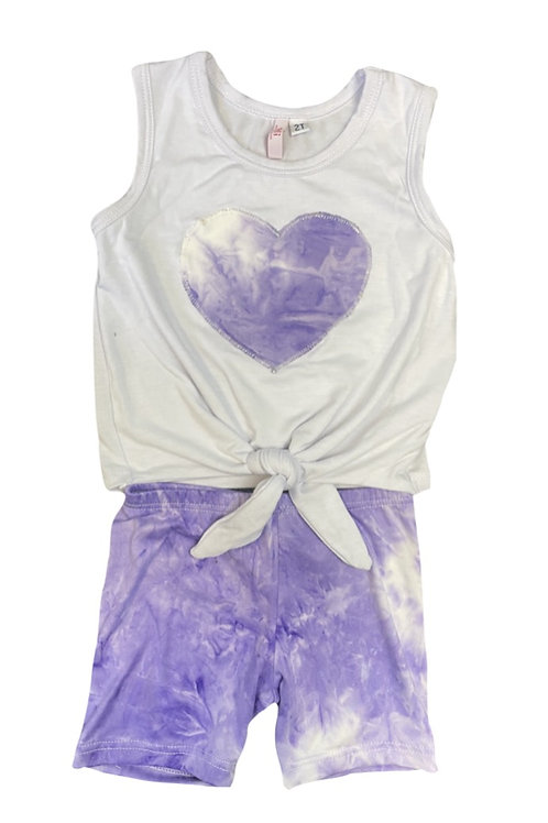 Lilac Tie Dye Heart Set