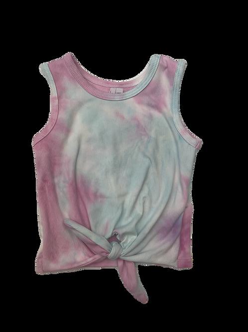 Pink/Blue Tie Dye Tie Tank Top