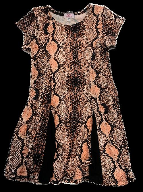 Coral Snake Black Inset Dress