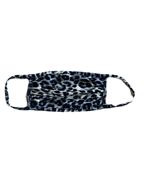 Black/Grey Leopard Mask