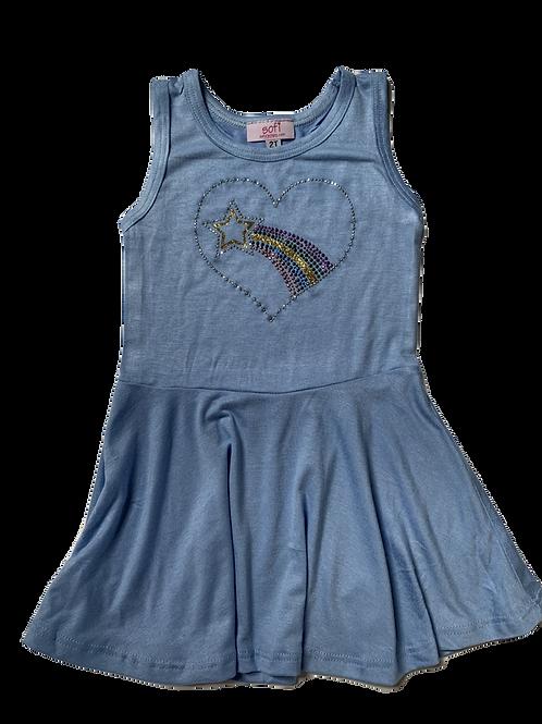 Light Blue Tank Dress with Heart