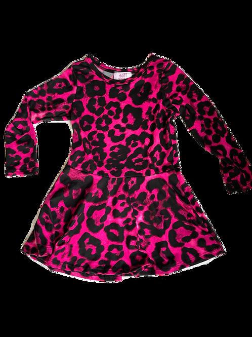 Fuchsia Leopard Dress