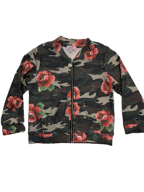 Camo Flower Zip Jacket