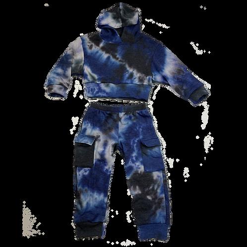 Navy/Blk  Hood Set