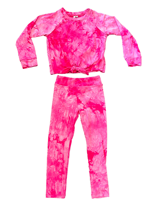 Fuchsia Tie Dye Set