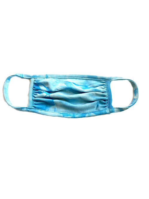 Aqua Tie Dye Mask