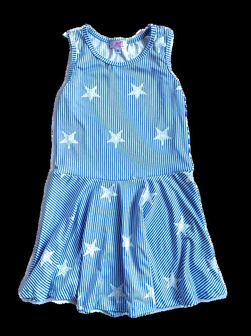 Blue/White Stars & Stripe Dress