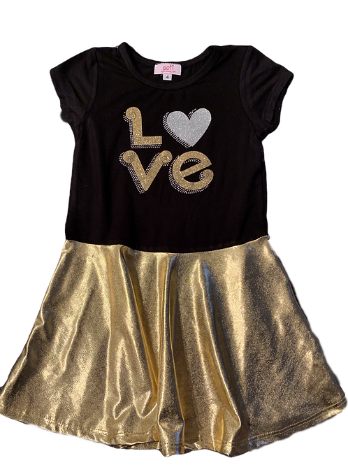 Black/Gold Bottom Dress