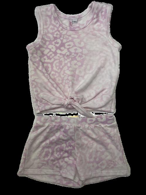 Pink Cheetah Tie Tank Set