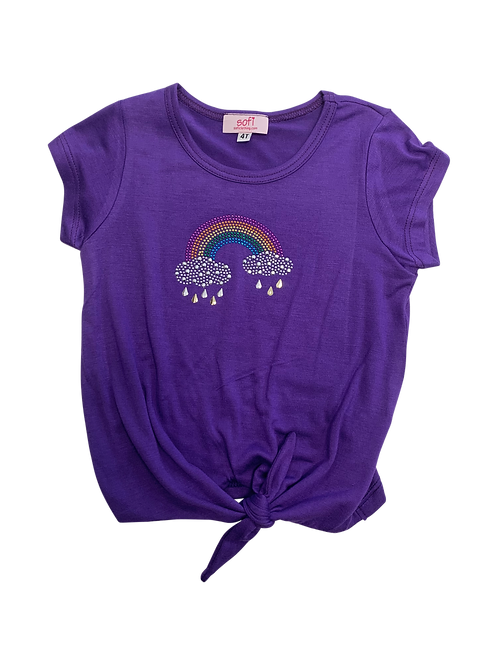 Purple Rainbow Tie top