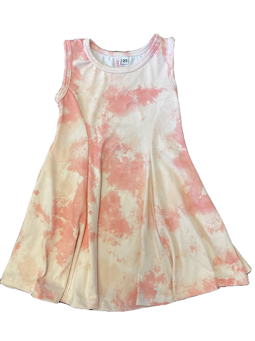 Pink Cloud Skater Dress